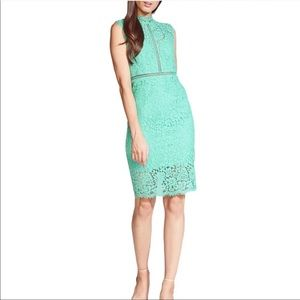 BARDOT Lace Sheath High Neck Cocktail Dress